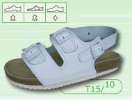 Pracovní pantofle dvoupřezkové s páskou přes patu - č. 37-39 (foto 1 60d8f3f388