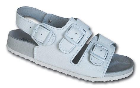 Pracovní pantofle dvoupřezkové s páskou přes patu - č. 37-39 ... 36fe1b009f