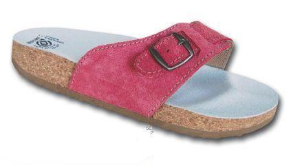 Korkové pantofle s jedním páskem - č. 41